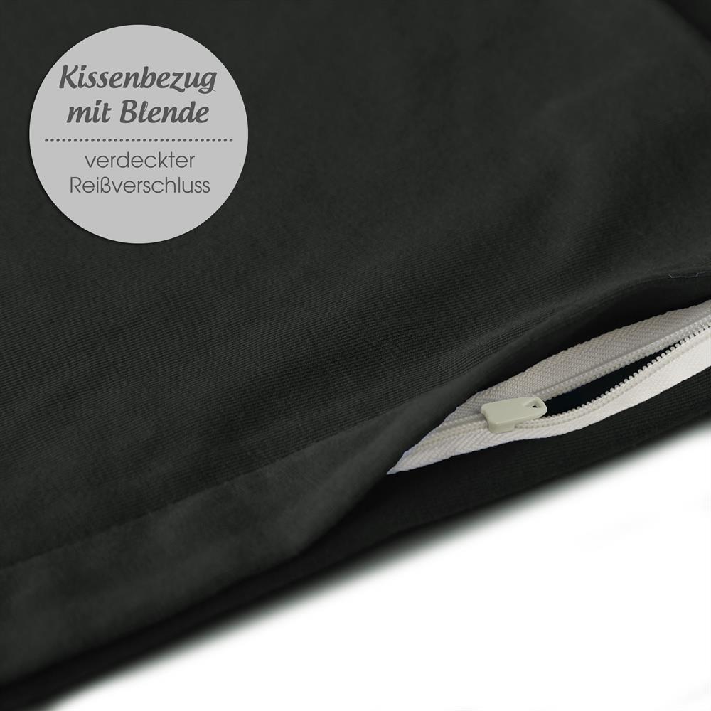 Kissenbezug Hülle Seitenschläferkissen Baby Jersey 40x145 OEKO-TEX uni Active