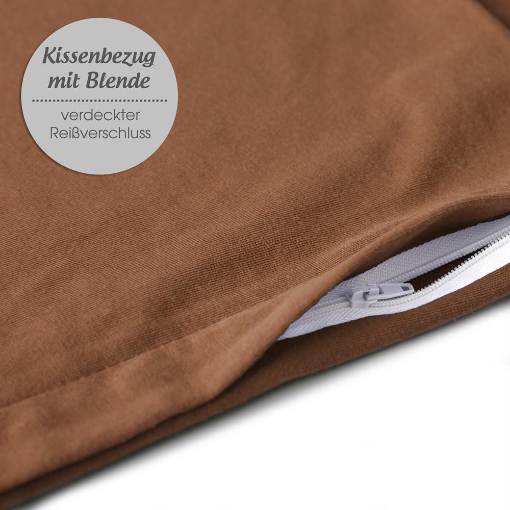 Kissenbezug Kissenhülle Baumwolle 80x80 Reißverschluss Classic Line aqua-textil